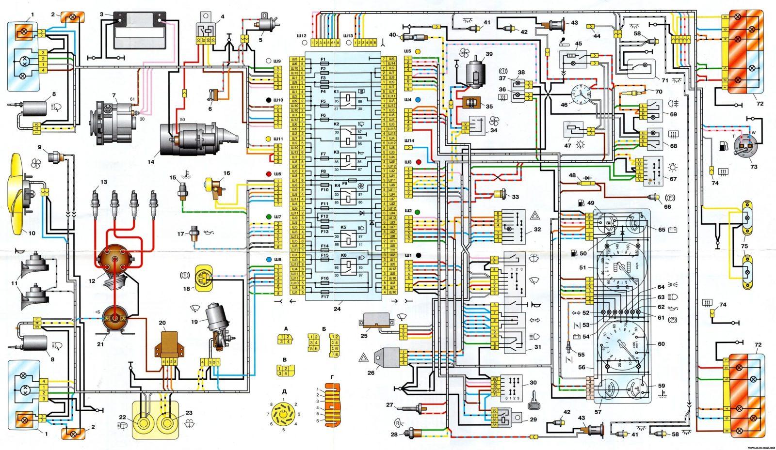 схема предрахронителей на ваз2101