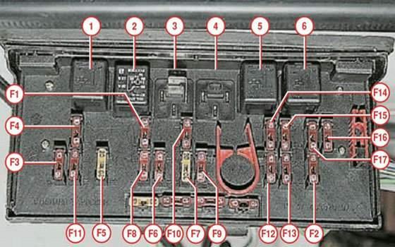 Схема элементов монтажного блока