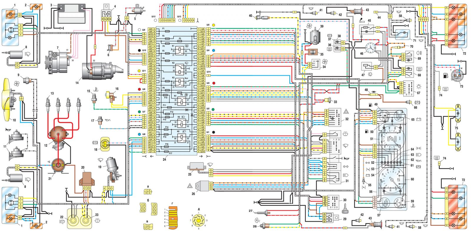 Электрооборудование, система зажигания ваз-2107, ваз-21072, ваз-21074.