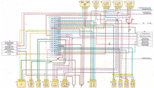 Электрическая схема инжекторного двигателя