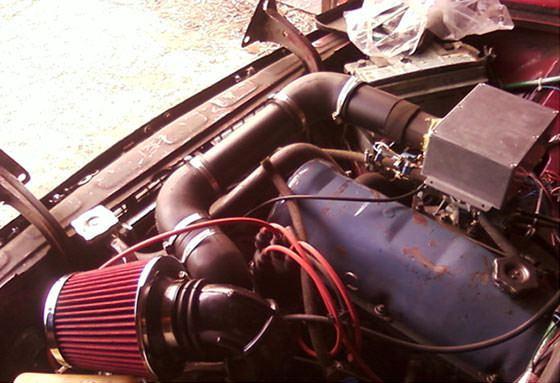 Двигатель с установленной турбиной