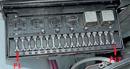 схема электрооборудования ваз 2107 инжектор блок предохранителей Схема предохранителей и реле ВАЗ 2105, 2107, 2104 (инжектор ...