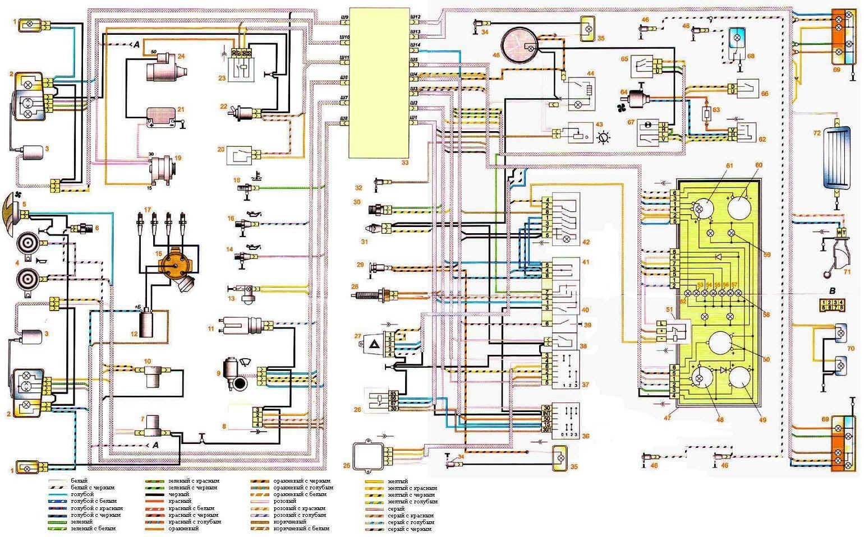 схема подключения проводов к зажиганию жигули