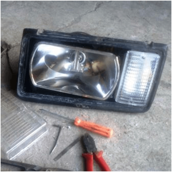 Замена стёкол фар на ваз 2107