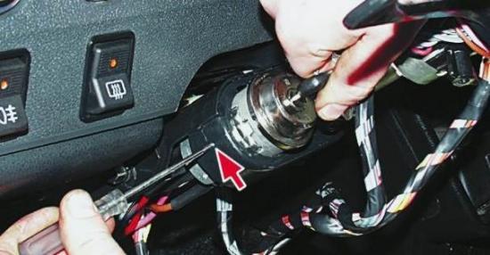 Как поменять замок зажигания на ваз 2106