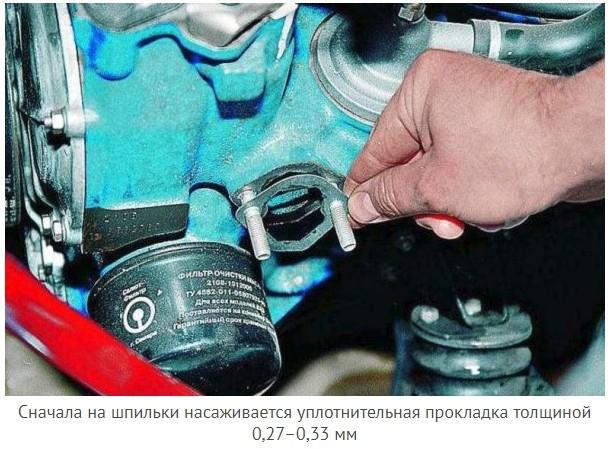 Уплотнительная прокладка между насосом и двигателем