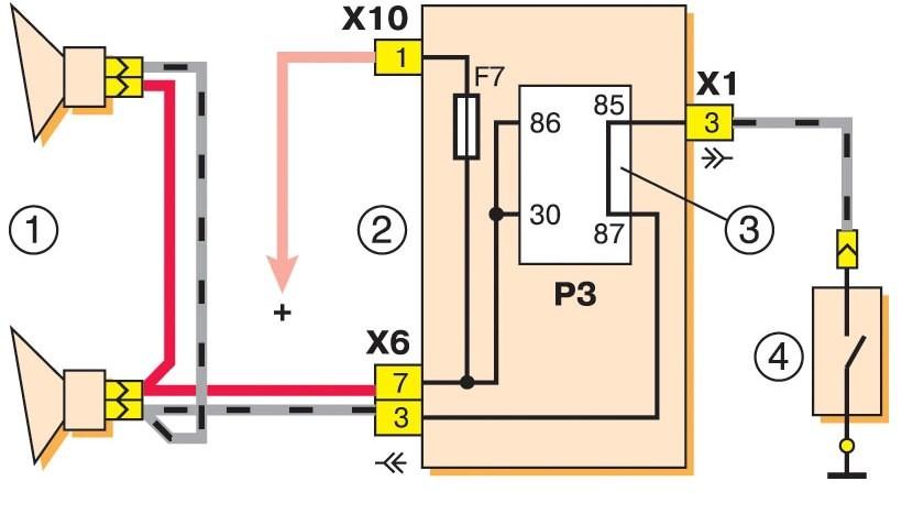 Схема звука ВАЗ 2107